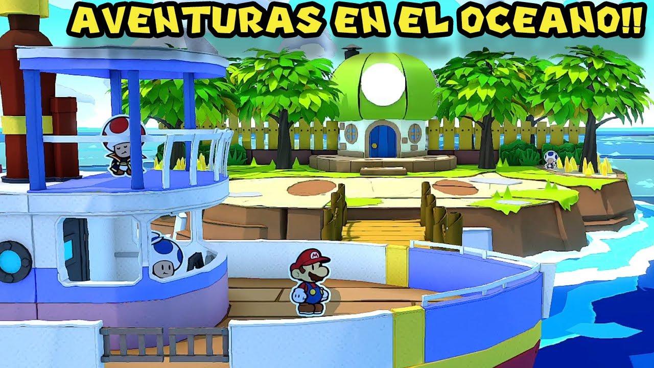 Aventuras en el OCEANO !! - Paper Mario Origami King con Pepe el Mago (#19)
