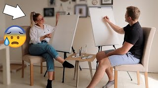 TRYING TO PAINT EACH OTHER... This went so WRONG!