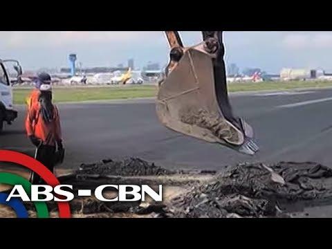 TV Patrol: Higit 20 flights, naapektuhan ng kinumpuning NAIA runway