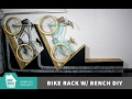 Bike Rack with Bench // DIY
