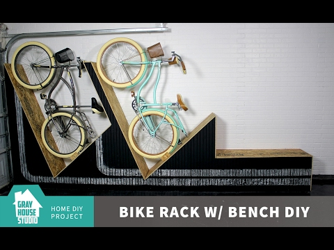 How to Build a Bike Rack with a Bench