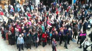 Flash mob - Big spender - Cabot Circus
