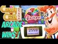 CANDY CRUSH SAGA ARCADES GAME 2500 TICKETS JACKPOT CAN WE WIN IT? Winning Arcade Games! Fun Winner!