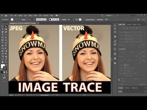 How To Convert A JPEG Image Into A Vector Graphic Using The Image Trace Function - Adobe Illustrator