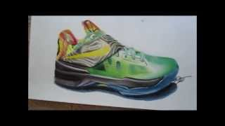 More  sneaker drawings. KD