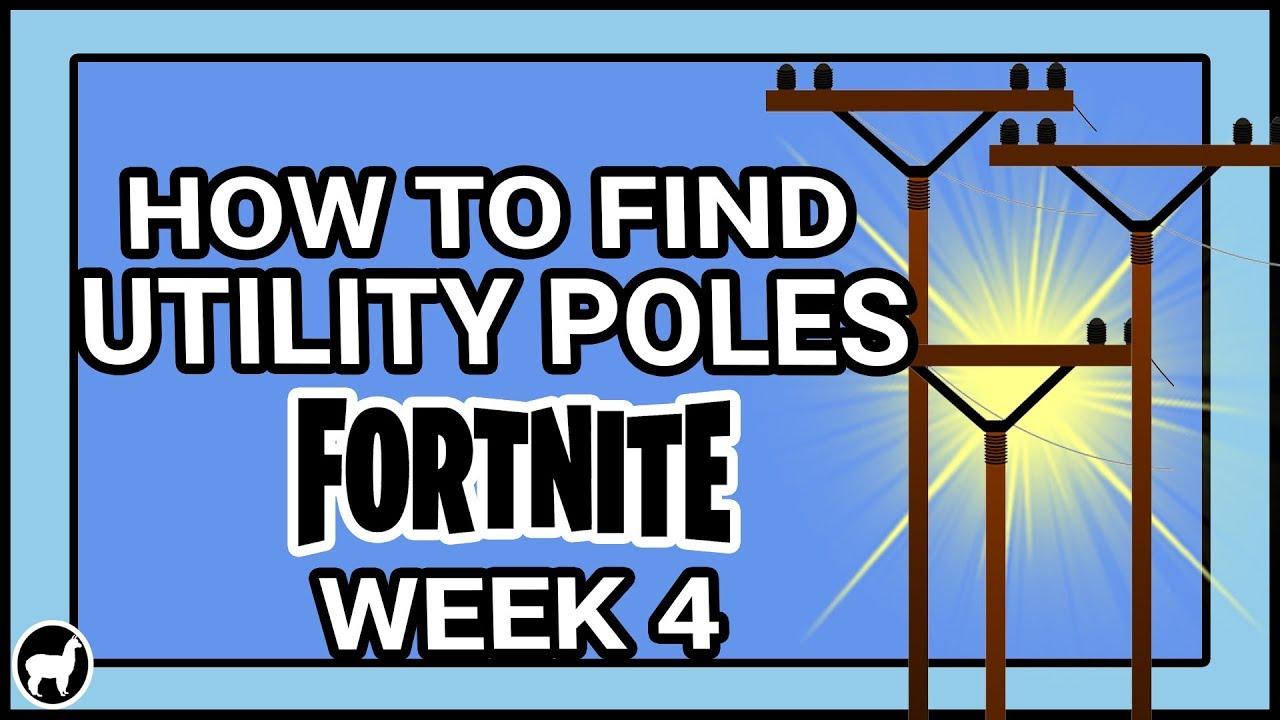 Fortnite Destroy Wooden Utility Pole Locations Season 7 Week 4 Challenge Wooden Utility Poles