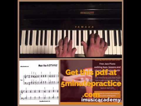 D7#9#5 voicing piano lesson and PDF - YouTube