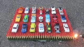 EXPERIMENT: 10 000 MATCHES VS 21 HOT WHEELS TOY CARS