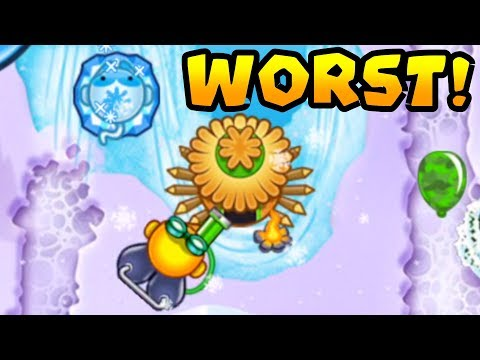 Winning With The WORST Strategy! Glue + Ice + Village | Bloons TD Battles