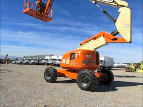 Sold! JLG 600AJ 60' Articulated Diesel Boom Lift Man Aerial AC bidadoo.com