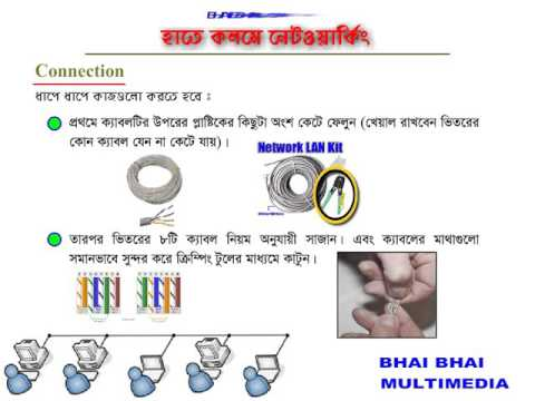 Networking bangla tutorial part 4  Cable Connection