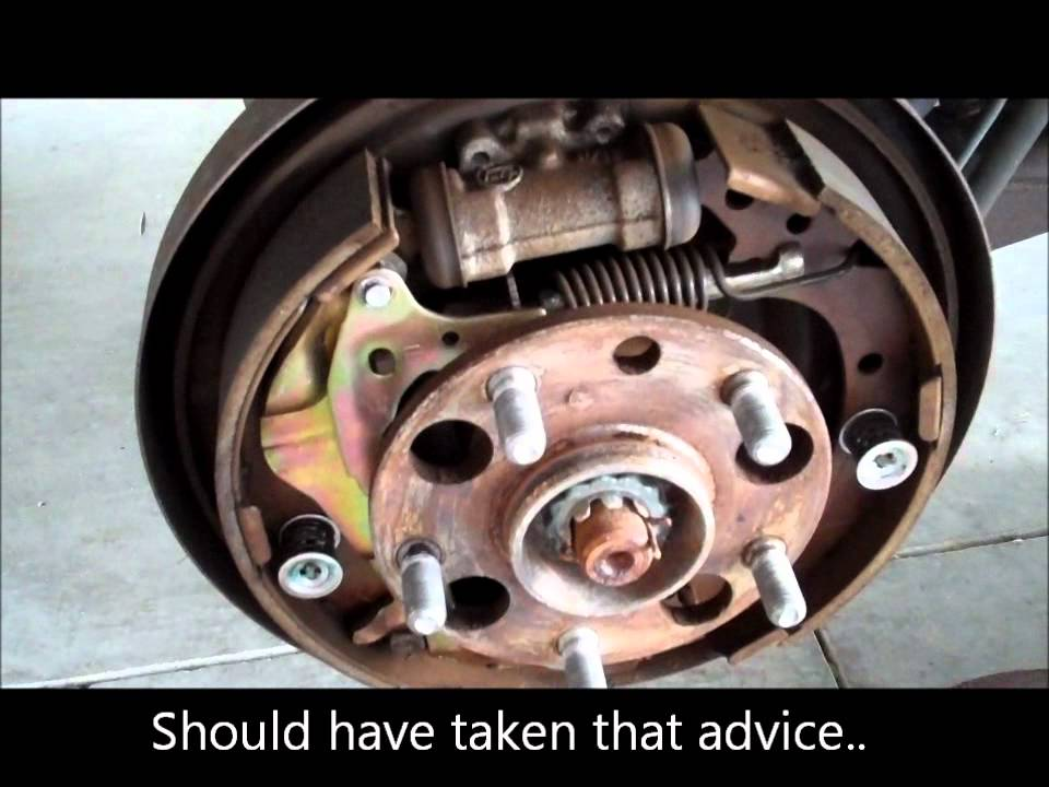 1996 toyota rav 4 rear brake shoe replacement fail youtube 2012 toyota rav4 parts diagram #11