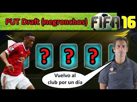 PUT DRAFT FIFA 16 || NEGRONCHOS (con Quique Sánchez Flores) || Putada Ultimate Team FIFA 16 Español