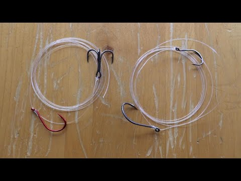 How To Make A Sliding Two Hook Live Bait Rig