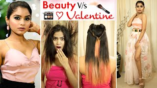 Beauty vs Valentine | Makeup & Fashion Hacks | Anaysa
