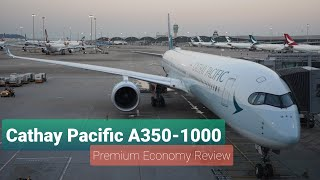 Cathay Pacific A350-1000 Premium Economy Review Hong Kong HKG to Manila MNL