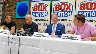 Eubank Jr and Saunders argue REMATCH at Press Conference (p3)