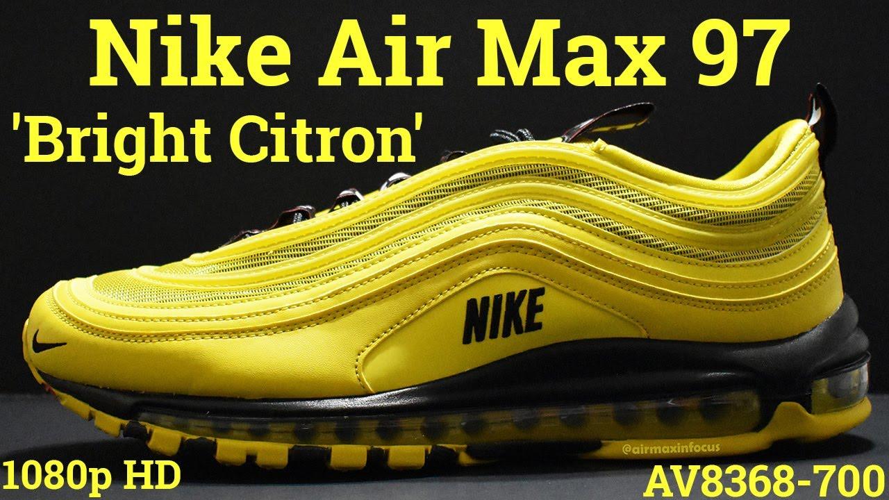 Nike Air Max 97 Bright Citron Av8368 700 2018 A Detailed Look