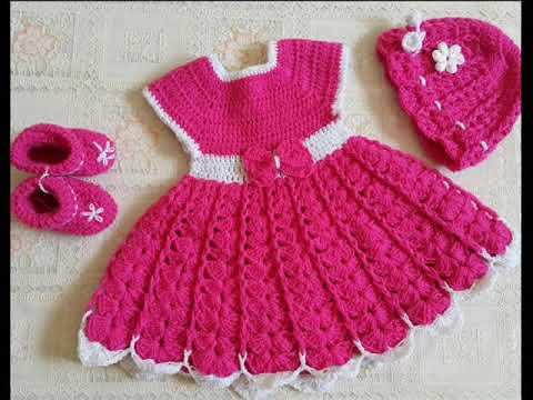 e6657338296d5 فستان بيبي كروشيه 3 - YouTube