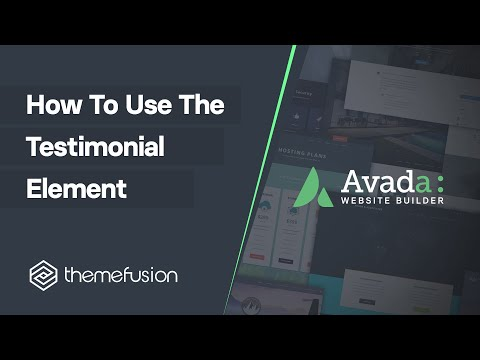 How To Use The Testimonial Element Video