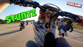 KTM gets WILD in the Streets (50+ stunt ride)