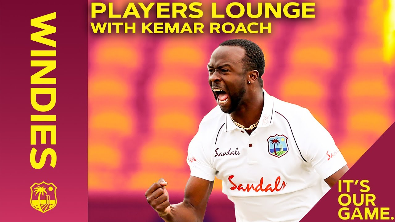 Kemar Roach On Historic England Tour, Ultimate Cricketer & Celebrity Crush! | Players Lounge Windies