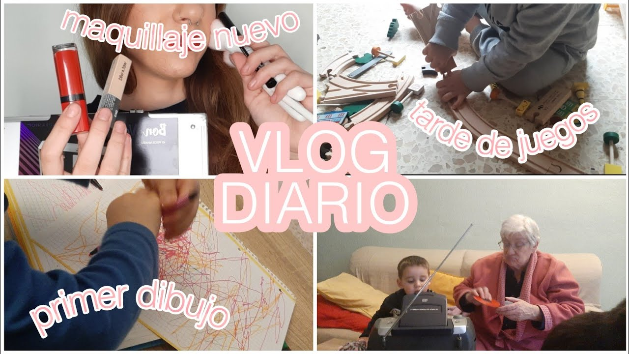 VLOG: PRIMER DIBUJO de mi BEBÉ🥰+MAQUILLAJE NUEVO💄+TARDE de JUEGOS+compras FALLIDAS|| Mi Familia Y Yo