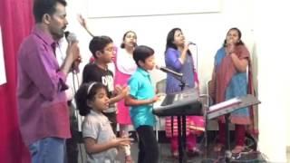 GC kuwait (Jaison Br & Saju Br Ministering)Good Friday worship @ Karimbumkala Basement