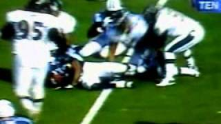 Eddie George vs Ray Lewis 2000 **THE HIT!!!**