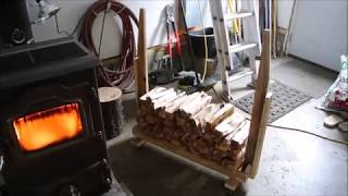 Design without a plan: Firewood log cart on wheels