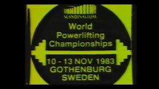 1983 World chionship powerlifting Wereld kioenschap powerlifting