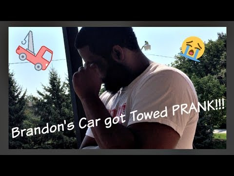 Your car got TOWED PRANK on Boyfriend! (FIRST PRANK) | BrandonandBri