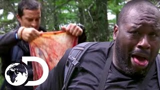 Shaquille O'Neal Stumbling Across A Placenta | Running Wild with Bear Grylls