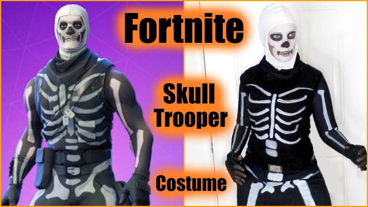 Make A Fortnite Skull Trooper Halloween Costume | Fortnite Season 6 🎃