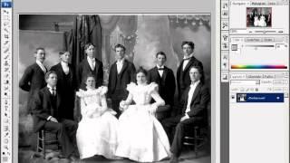 Коррекция старых фотографий. Использование уровней..mp4