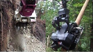 高性能林業機械オイルクイックザウルス ハーベスタ コマツPC138林業仕様【作業道開設 支障木伐倒 造材】