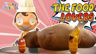 THE FOOD LOVERS   TUBAn Friends Compilation   Best Video   Larva, Vicky & Johnny and Cafe Wingcle