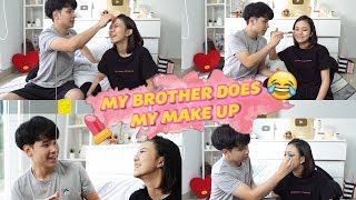 MY BROTHER DOES MY MAKEUP! ft. JESS NO LIMIT!