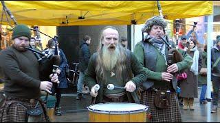 "Scottish group Clanadonia with Tu-Bardh Wilson performing the track ""Tu-Bardh"" in Perth, Scotland"