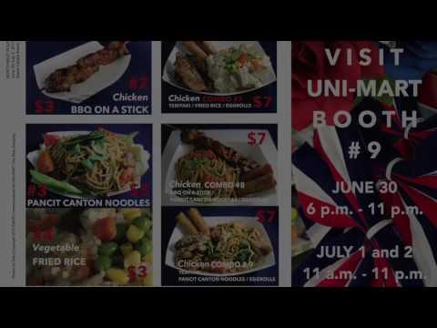 UNI-MART Hoffman at NW4th-Fest 2017 Culinary Video 6/29/17 60 secs. ENERI
