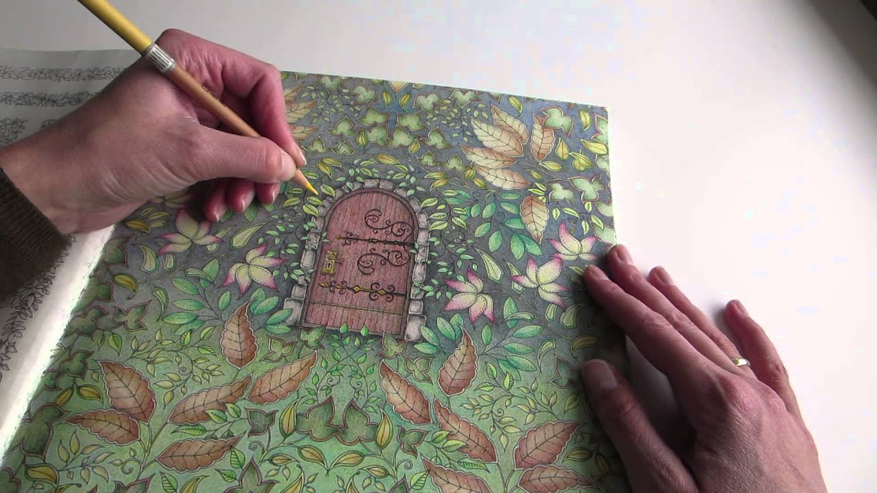 Colouring My Secret Garden - The Secret Door part 1 (how to) - YouTube