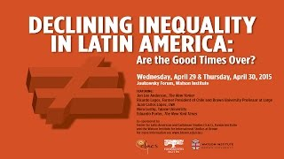 Declining Inequality in Latin America: Are the Good Times Over?