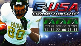 1 Star School Plays In First Conference Title Game | NCAA 14 Alaska Eagles Dynasty Ep. 26
