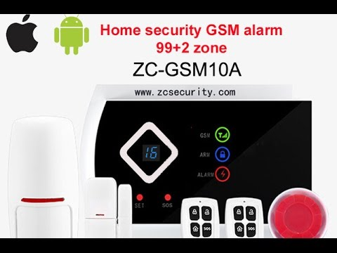 Wireless GSM alarm system for home 99+2 zone SGA-G10A from China / Android, IOS