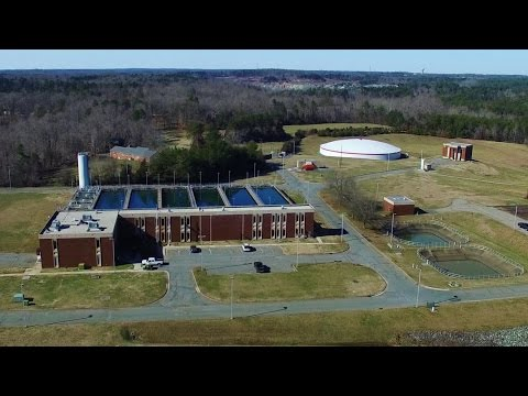 Aerial Views of the JD Mackintosh Water Treatment Plant - Burlington, NC