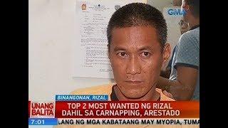 UB: Top 2 most wanted ng Rizal dahil sa carnapping, arestado