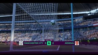 FIFA 19 career mode Manchester City vs Arsenal highlights