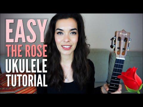 EASY Ukulele Tutorial ~ The Rose   Romantic Songs for Ukulele