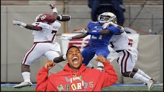 The Best College Football Player!!! B.Lou Football Highlights-Reaction