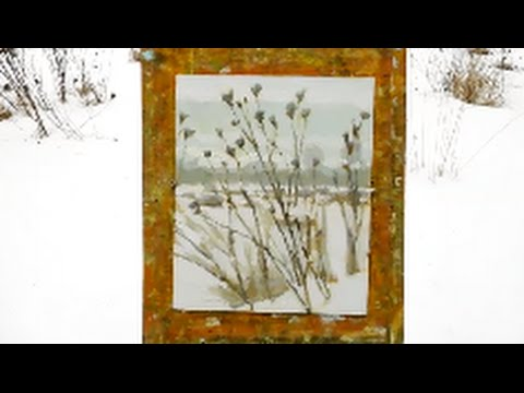Plein Air Painting Demo – Flowers in Snow
